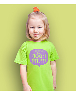 Give Me The Good Stuff T-shirt dziecięcy Zielony 146