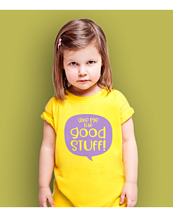 Give Me The Good Stuff T-shirt dziecięcy Żółty 110