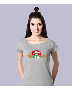 Friends - Central Perk T-shirt damski Jasny melanż L