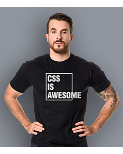 CSS is awesome T-shirt męski Czarny S