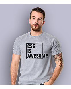 CSS is awesome T-shirt męski Jasny melanż S