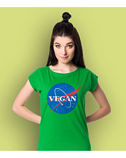 Vegan Nasa T-shirt damski Zielony XXL