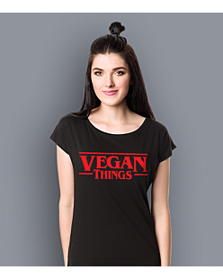 Vegan Things T-shirt damski Czarny XS