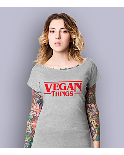 Vegan Things T-shirt damski Jasny melanż XS