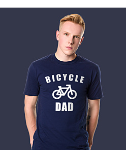 Bicycle Dad T-shirt męski Granatowy S