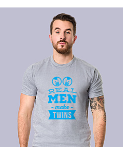 Real Man Make Twins T-shirt męski Jasny melanż S