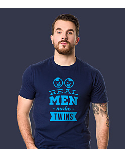 Real Man Make Twins T-shirt męski Granatowy S