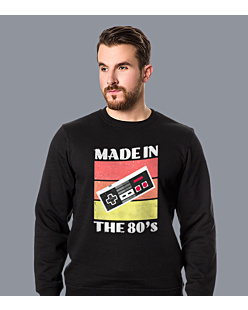 Nintendo - made in the 80's Bluza prosta męska Czarna XXL