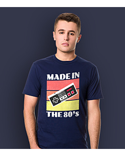 Nintendo - made in the 80's T-shirt męski Granatowy L