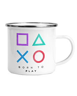 Playstation born to play Kubek Emaliowany Universal
