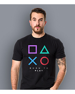 Playstation born to play T-shirt męski Czarny XXL