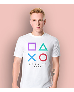 Playstation born to play T-shirt męski Biały S