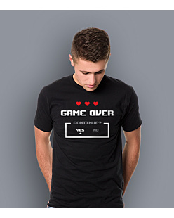 Game Over KSZ T-shirt męski Czarny L