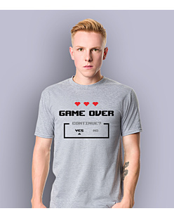 Game Over KSZ T-shirt męski Jasny melanż L