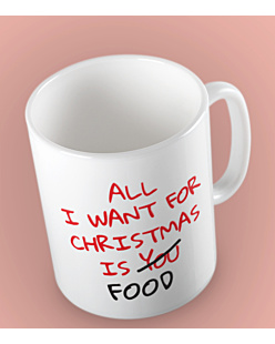 All i want for christmas is Food Kubek Biały Universal