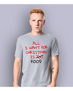 All i want for christmas is Food T-shirt męski Jasny melanż S
