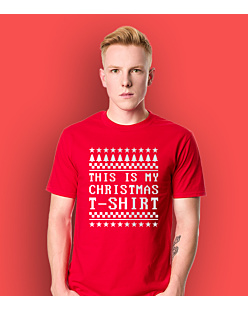This Is My Christmas T-Shirt T-shirt męski Czerwony L