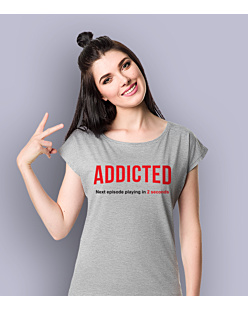 Addicted T-shirt damski Jasny melanż XS