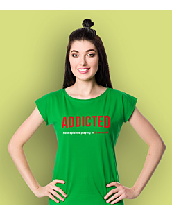 Addicted T-shirt damski Zielony M