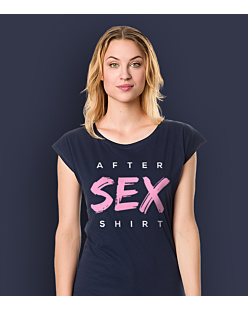 After Sex Shirt T-shirt damski Granatowy XS