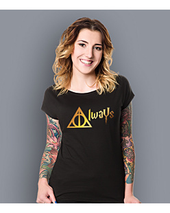 Always - Harry Potter T-shirt damski Czarny XS
