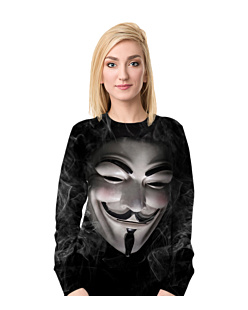 Anonymous guy fawkes Bluza Fullprint Damska S