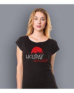 Friends - Holiday Armadillo T-shirt damski Czarny XS