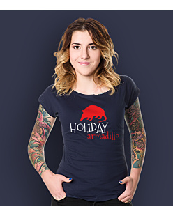 Friends - Holiday Armadillo T-shirt damski Granatowy XS