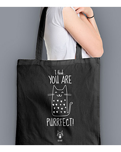 You are purrfect Torba na zakupy Czarna Universal