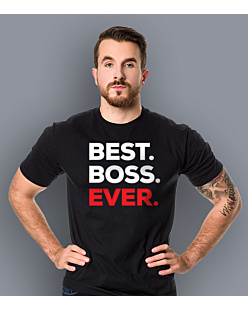 Best Boss Ever T-shirt męski Czarny S