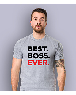 Best Boss Ever T-shirt męski Jasny melanż S