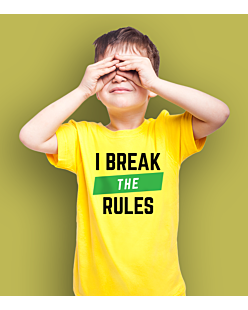 I Break the Rules T-shirt dziecięcy Żółty 110