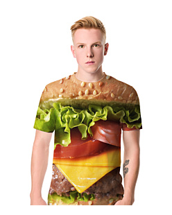 Burger T-shirt męski FullPrint S