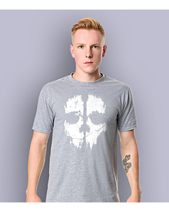 Call of Duty Ghost T-shirt męski Jasny melanż S
