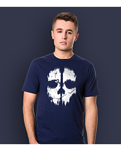 Call of Duty Ghost T-shirt męski Granatowy XXL