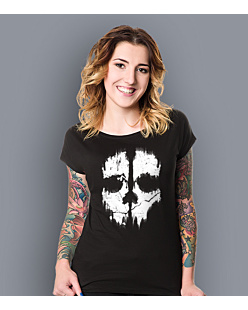 Call of Duty Ghost T-shirt damski Czarny XS