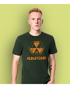 Call of Duty Nuketown T-shirt męski Ciemnozielony S
