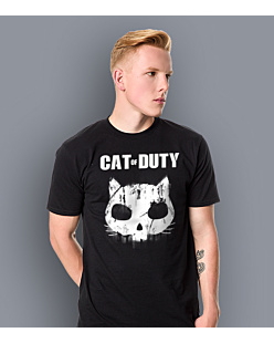 Cat of Duty T-shirt męski Czarny S
