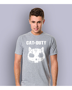 Cat of Duty T-shirt męski Jasny melanż S