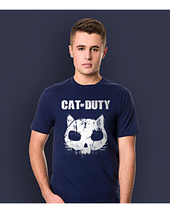 Cat of Duty T-shirt męski Granatowy S