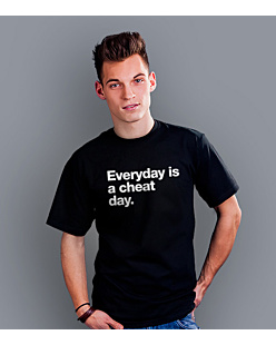 Cheat Day T-shirt męski Czarny XXXXL