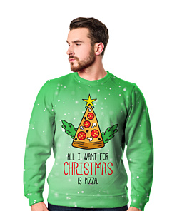 Christmas Pizza Fullprint Bluza Fullprint Męska S