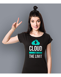Cloud is the limit T-shirt damski Czarny XS