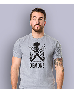 Wolverine - Confront Your Own Demons T-shirt męski Jasny melanż S