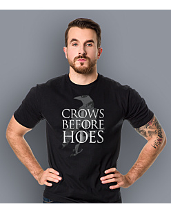 Gra o Tron - Crows Before Hoes T-shirt męski Czarny L