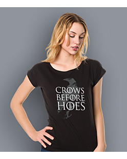Gra o Tron - Crows Before Hoes T-shirt damski Czarny XS