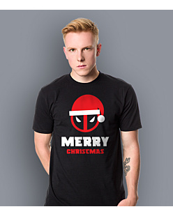 Deadpool Merry Christmas T-shirt męski Czarny S