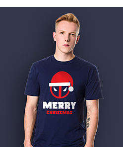 Deadpool Merry Christmas T-shirt męski Granatowy S