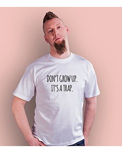 Don't grow up T-shirt męski Biały S
