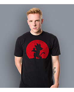 Dragon Ball -  Goku Moon T-shirt męski Czarny M